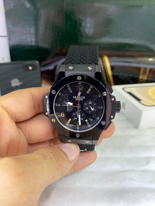 Réplica de relógio Hublot Geneve Crono – Preto