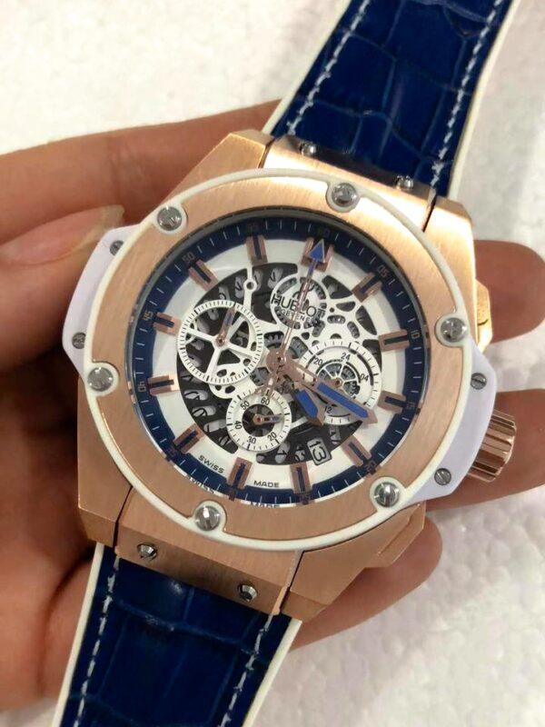 Réplica de relógio Hublot King Pawer – Azul/Branco