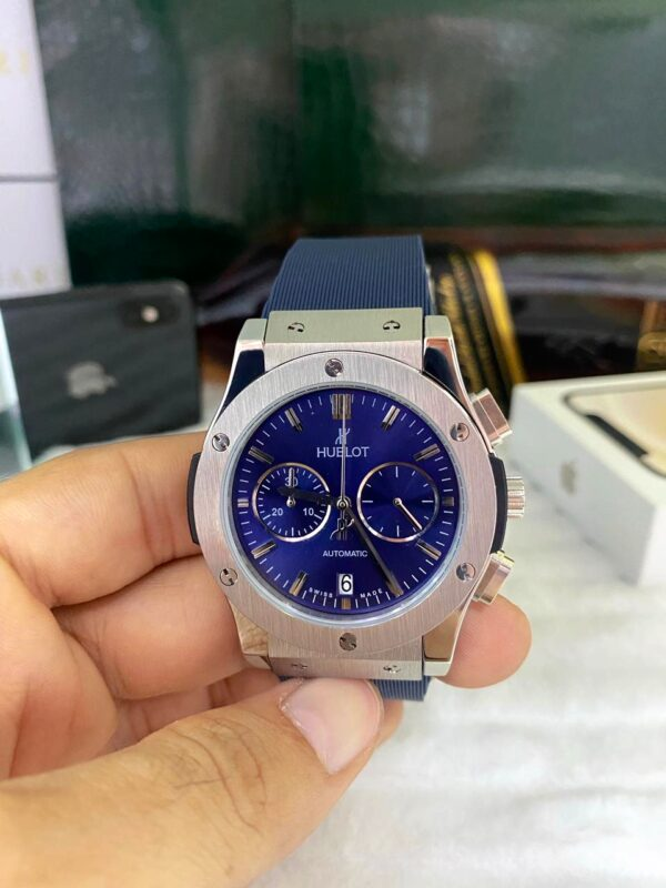 Réplica de relógio Hublot Vendome Big Bang – Azul/Prata