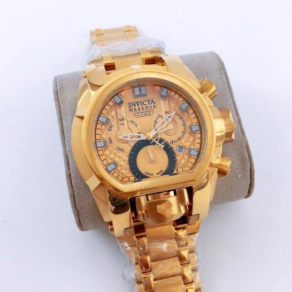 Réplica de relógio Invicta Zeus Magno – Dourado/Preto