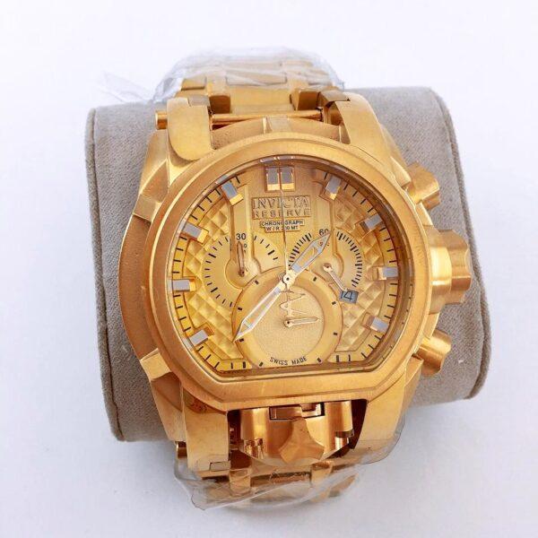 Réplica de relógio Invicta Zeus Magno – Dourado