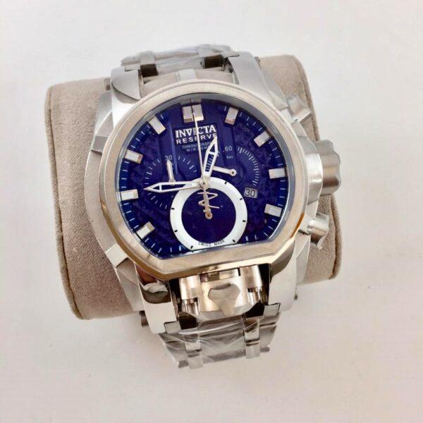 Réplica de relógio Invicta Zeus Magno – Prata/Azul