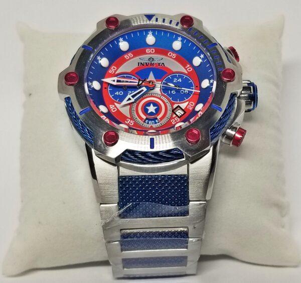 Réplica de relógio Invicta Capitão América