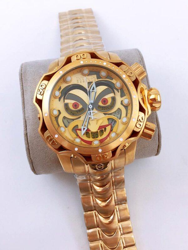 Réplica de relógio Invicta Coringa – Dourado