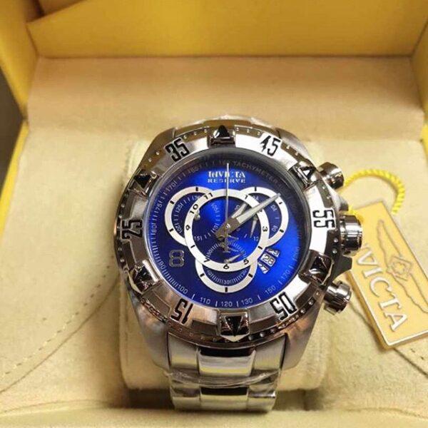 Réplica de relógio Invicta Excursion Aço – Prata/Azul