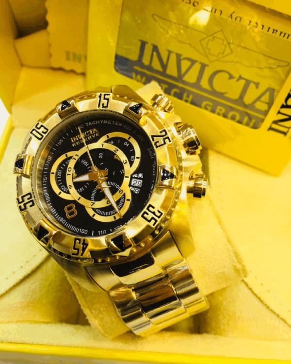 Réplica de relógio Invicta Excursion Aço – Dourado/Preto