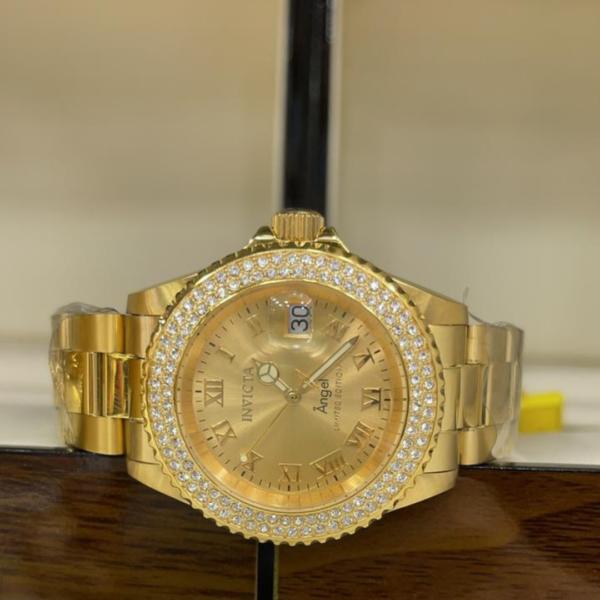 Réplica de relógio Invicta Angel Feminino – Dourado