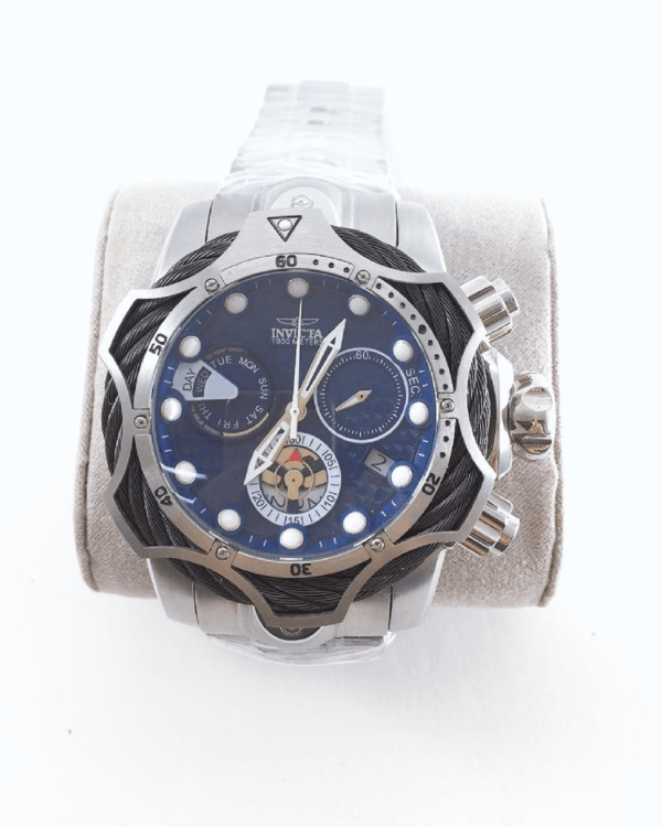 Réplica de relógio Invicta Venon Has – Prata/Azul