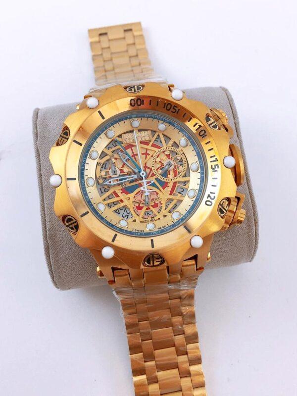 Réplica de relógio Invicta Hibrid Esqueleto – Dourado