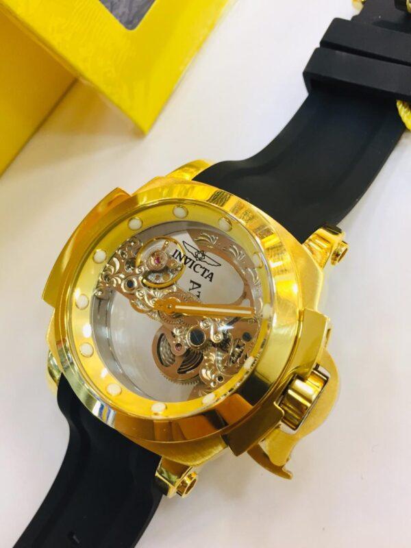 Réplica de relógio Invicta Men's Coalition – Preto/Dourado