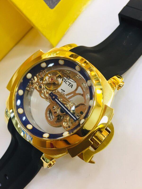 Réplica de relógio Invicta Men's Coalition – Dourado/Azul