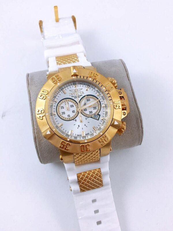 Réplica de relógio Invicta Noma lll – Dourado/Branco