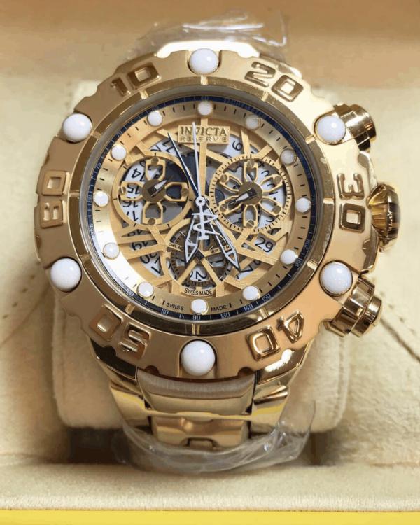 Réplica de relógio Invicta Hibrid Premium – Dourado
