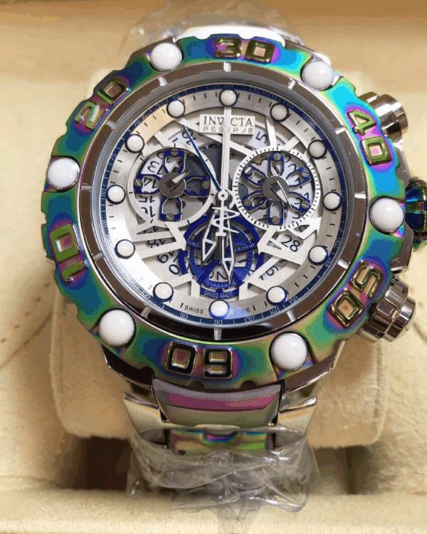 Réplica de relógio Invicta Hibrid Premium – Prata/Colorido