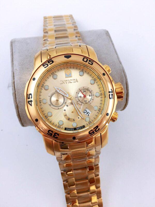 Réplica de relógio Invicta Pro Diver Aço – Dourado