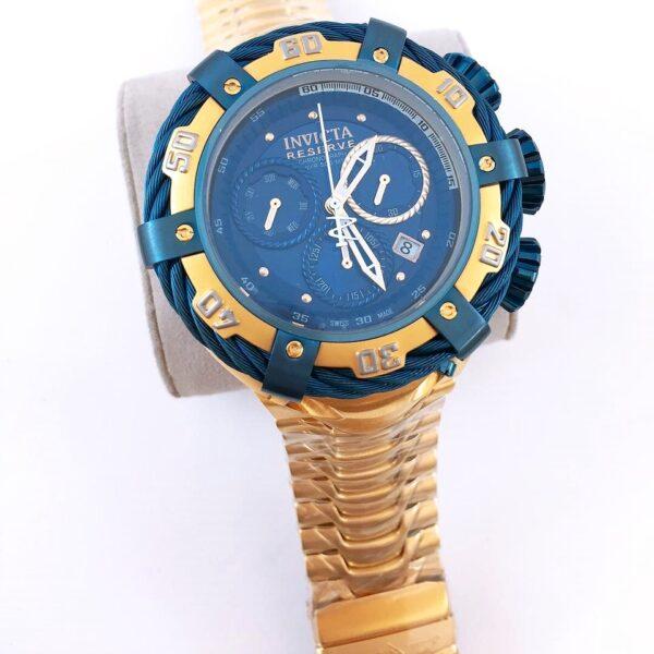Réplica de relógio Invicta Thunderbolt – Azul/Dourado