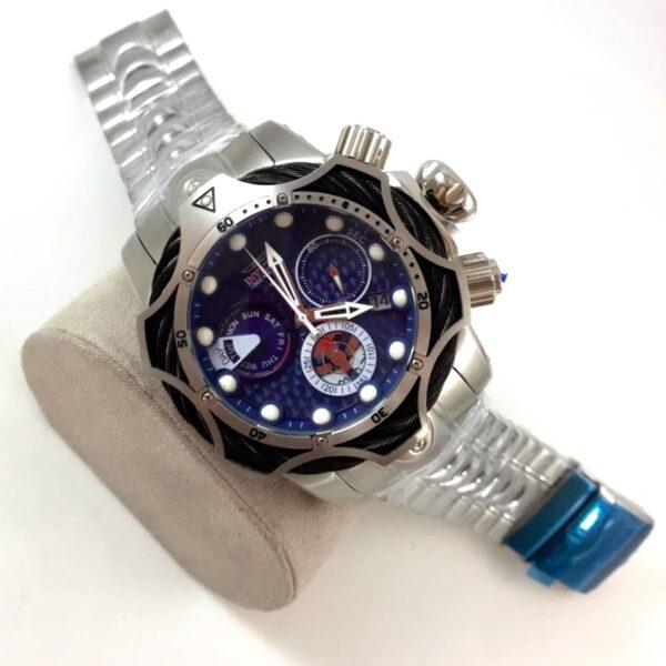 Réplica de relógio Invicta Thunderbolt – Prata/Azul