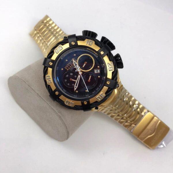 Réplica de relógio Invicta Thunderbolt – Dourado/Preto