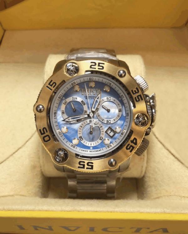 Réplica de relógio Invicta Reserve Swiss – Dourado