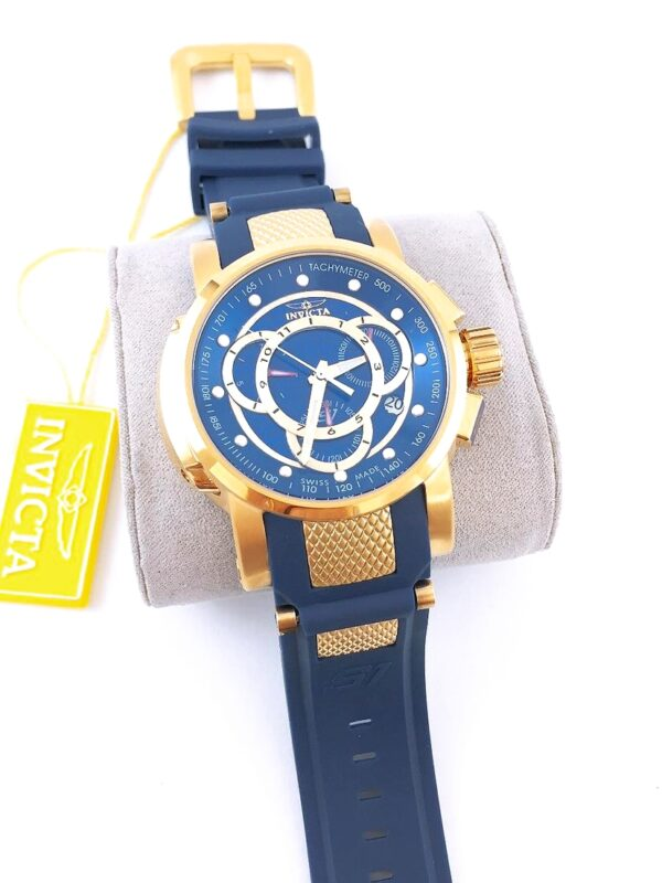 Réplica de relógio Invicta S1 – Azul/Dourado