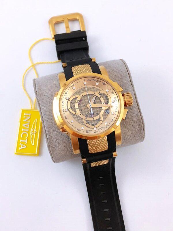 Réplica de relógio Invicta S1 – Preto/Dourado
