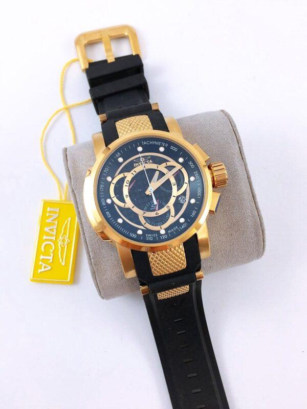 Réplica de relógio Invicta S1 – Black/Dourado