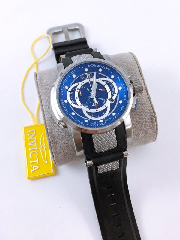 Réplica de relógio Invicta S1 – Prata/Azul