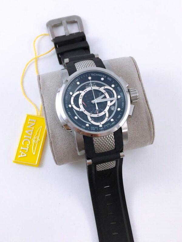 Réplica de relógio Invicta S1 – Prata/Preto