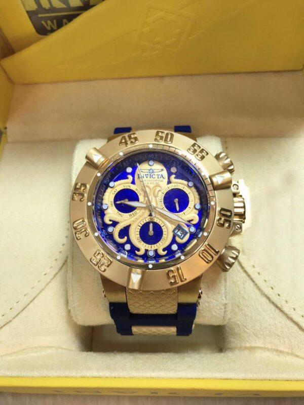 Réplica de relógio Invicta Wiss Z60 Stainless – Azul/Dourado