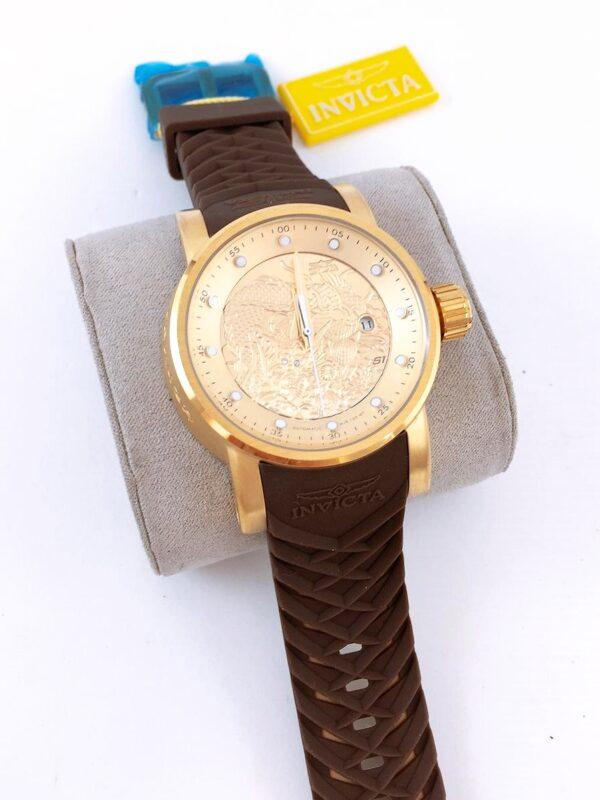 Réplica de relógio Invicta Yakusa – Marrom/Dourado