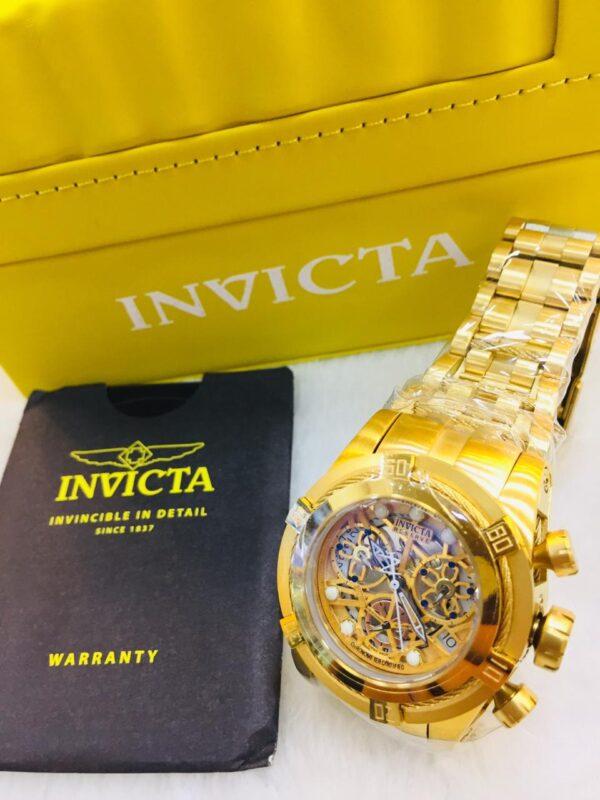 Réplica de relógio Invicta Zeus Feminino – Dourado