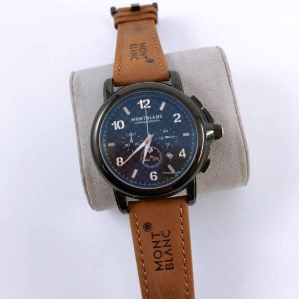 Réplica de relógio Mont Blanc Couro – Marrom