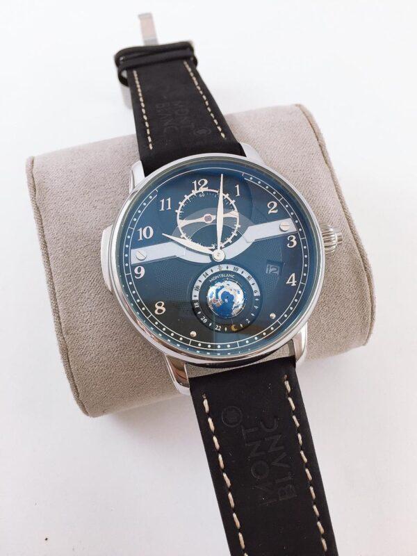 Réplica de relógio Mont Blanc Mundo Couro – Preto