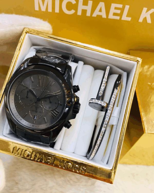 Réplica de relógio Michael Kors Aço – Preto