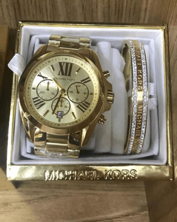 Réplica de relógio Michael Kors Aço – Dourado