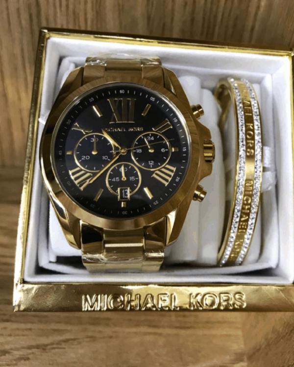 Réplica de relógio Michael Kors Aço – Dourado/Preto