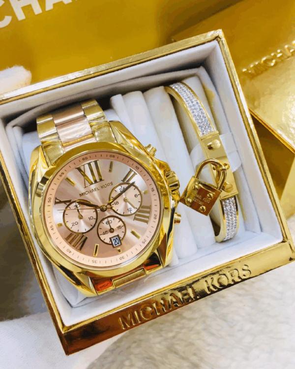 Réplica de relógio Michael Kors Aço – Dourado/Rose