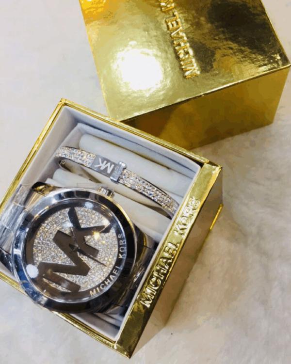 Réplica de relógio Michael Kors Aço Kit – Prata