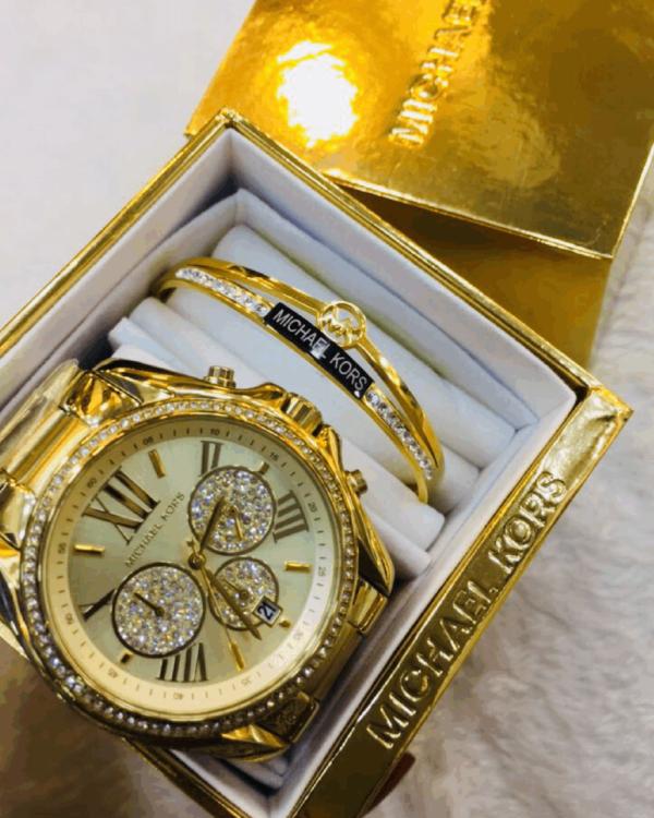 Réplica de relógio Michael Kors Aço Kit – Dourado
