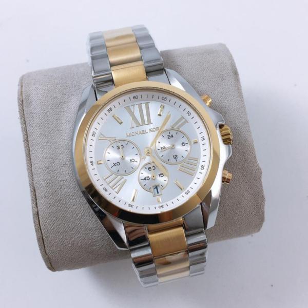 Réplica de relógio Michael Kors – Prata/Dourado
