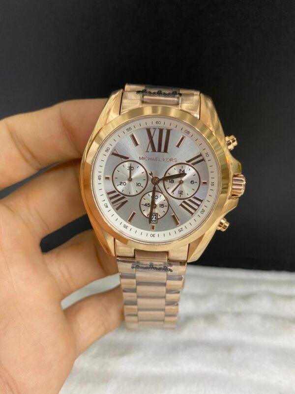 Réplica de relógio Michael Kors – Dourado/Branco