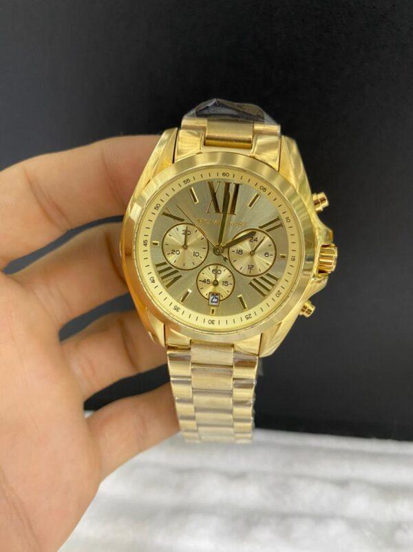 Réplica de relógio Michael Kors – Dourado/Marrom
