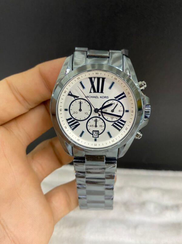 Réplica de relógio Michael Kors – Prata/Branco