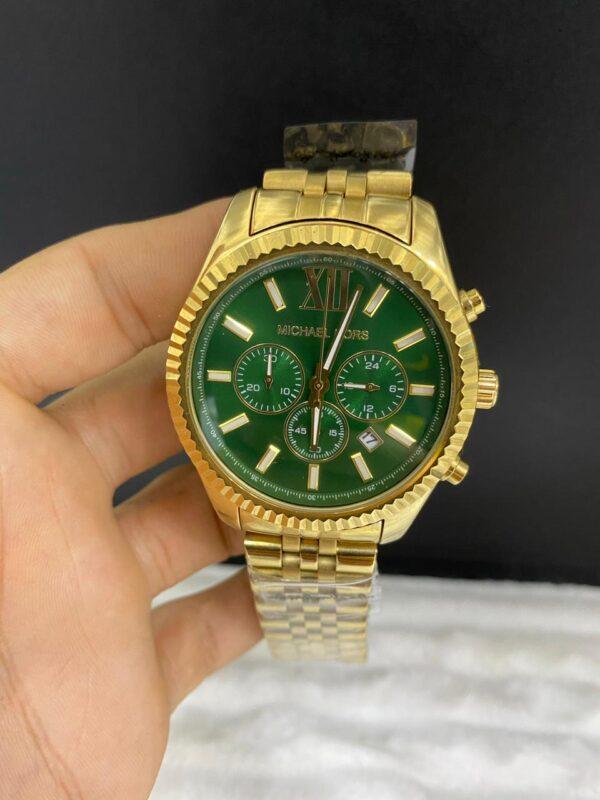 Réplica de relógio Michael Kors – Dourado/Verde