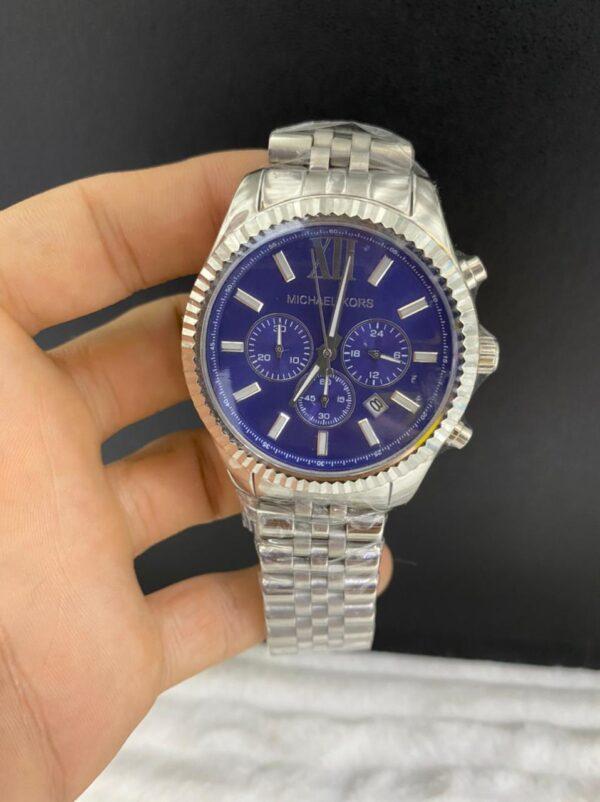 Réplica de relógio Michael Kors – Prata/Azul