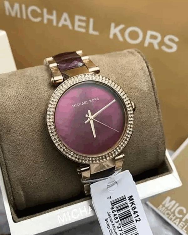 Réplica de relógio Michael Kors – Dourado/Rosa