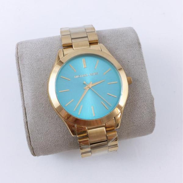 Réplica de relógio Michael Kors – Dourado/Azul