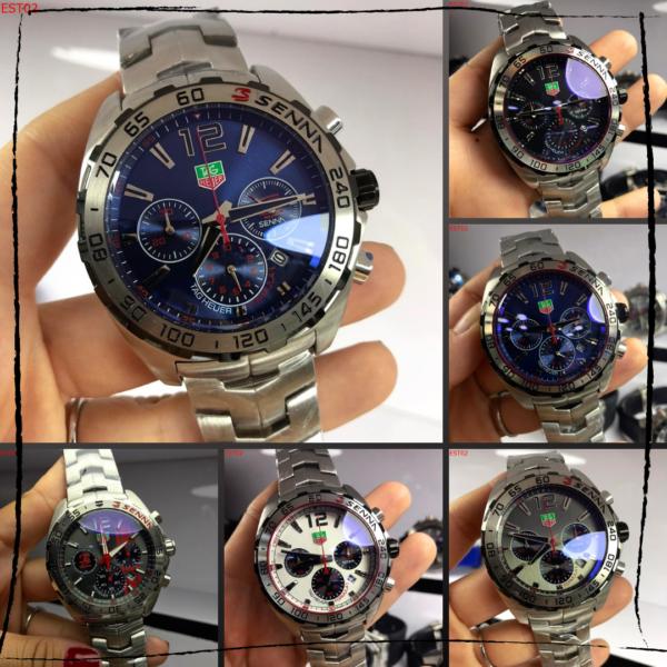 Réplica de relógio Tag Heuer Senna Aço – Onix/Vermelho 2