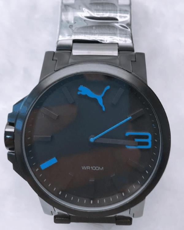 Réplica de relógio Puma Branco Preto/Azul