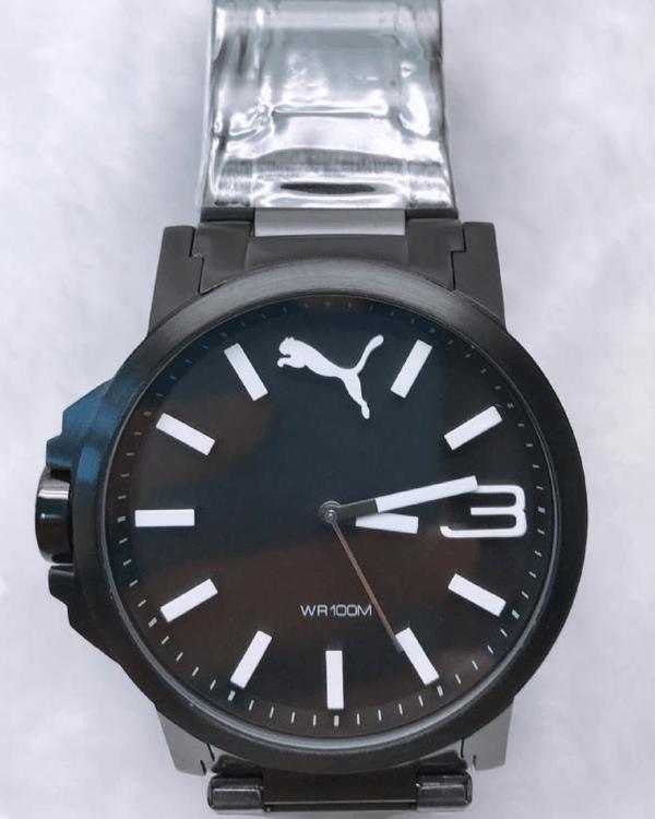 Réplica de relógio Puma Branco/Preto